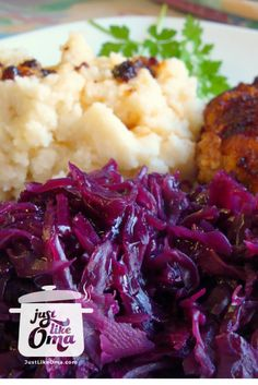 Red cabbage. So delicious! Traditional side dish that fits with most German meals. Recipe: http://www.quick-german-recipes.com/red-cabbage-recipes.html