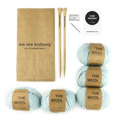 Want to win The Lazy Blanket Kit from @weareknitters Like this post & tag a friend! You can also get 15% off at weareknitters.com with code HauteKnitWAK!