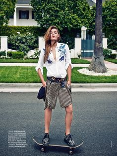 cool and the glam: bambi northwood-blyth by ben morris for elle france.