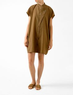Bird marisa button tunic dress at Bird : ShopBird.com