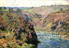 Page of Valley of the Creuse (Sunlight Effect) by MONET, Claude in the Web Gallery of Art, a searchable image collection and database of European painting, sculpture and architecture Famous Impressionist Paintings, Monet Paintings, Landscape Paintings, Claude Monet, Web Gallery Of Art, Monet Water Lilies, Lily Painting, Outdoor Paint, Air France