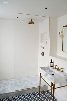 As Tadelakt is water repellent there's absolutely no demand for tiling etc. Tadelakt is incredibly versatile and may be used in a lot of means. Tadelakt not on. Bathroom Shower Panels, Loft Bathroom, Big Bathrooms, Bathroom Inspo, White Bathroom, Bathroom Inspiration, Bathroom Interior, Small Bathroom, Shower Walls