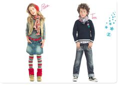 stylish kids clothes and colors for a photo shoot