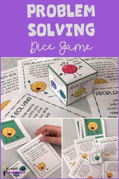 Roll With It! Problem Solving Dice Game Roll With It! Problem Solving Dice Game,Teaching social skills Related Senses Grounding Poster and Worksheet - Educationcreativesocialworker - EducationScoop Group for Self Control: Early Childhood Small. Coping Skills Activities, Social Skills Lessons, Problem Solving Activities, Social Skills Activities, Teaching Social Skills, Social Games, Science Activities For Kids, Social Emotional Learning, Problem Solving Skills