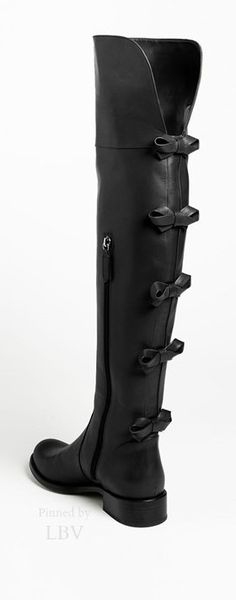 Valentino Bows ♥✤ Leather Over the Knee Boots, Flat