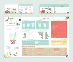 Momen'Tea (Bubble Tea Bar) Brand design and Communication