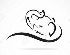 Simple Elephant Tattoo Design More