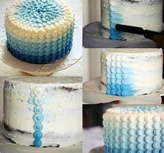 Degrade blue cake