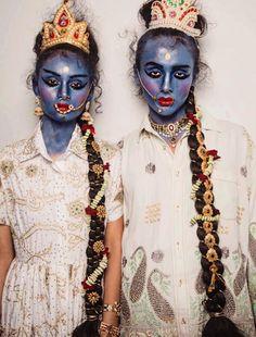 Ashish Gupta SS17. Styling: Anna Travelyan. Makeup: Isamaya Ffrench. #LFW