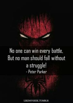 Wise words of Peter Parker Spider Man Quotes, Iron Man Quotes, Movie Quotes, Life Quotes, Qoutes, Nerd Quotes, Marvel Quotes, Avengers Quotes, Batman Quotes