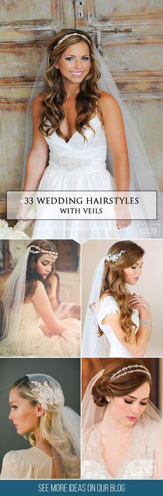 33 Wedding Hairstyles With Veil ❤ We picked up wedding hairstyles with veil for updos and half-down, bun, long and short hair special for you. It is an undisputed symbol of every bride. See more: http://www.weddingforward.com/wedding-hairstyles-with-veil/ #wedding #hairstyles #updos