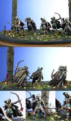Warhammer Wood Elves, Warhammer Fantasy, Warhammer Models, Warmachine Miniatures, Wood Elf, High Elf, Fantasy Miniatures, Cool Paintings, Love Painting