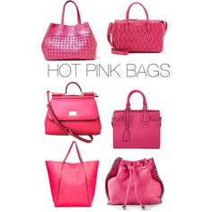 """""""Pink. Stylish. Bags."""" by theartbug on Polyvore"""