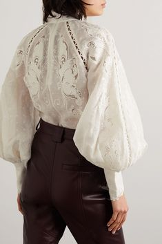 Zimmermann - Super Eight embroidered linen and silk-blend blouse Pretty Outfits, Cool Outfits, Fashion Outfits, Womens Fashion, Fashion Tips, Fashion Design, Color Fashion, Fashion Blouses, Jeans Fashion