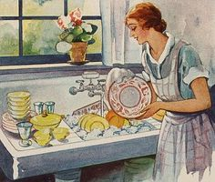 Doin' the Dishes....reépinglé par Maurie Daboux .•*`*•. ❥
