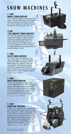 TheSnow Machine Options and distance coverage