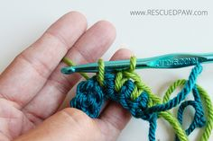 How to Make a Spike Stitch in Crochet From Rescued Paw Designs