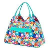Monogrammed Poppy Punch Beach Bag