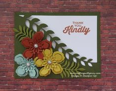Thank You Kindly Pocket card - Perfect Pairing meets the Botanical Builder Framelits Dies - Video tutorial by Jenny with www.craftingwithjenny.com