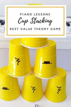 Learn Piano This cup-stacking piano theory game will help you reinforce rest values while having a blast! Find out how to play. Piano Games, Piano Music, Piano Songs, Music Theory Games, Music Games, Kids Music, Piano Teaching, Learning Piano, Teaching Art
