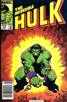 The Incredible Hulk #307, May 1985, cover by Mike Mignola and Steve Leialoha