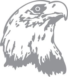 Glass Etching Stencil Of Eagle Profile In Category Birds Prey Stencils