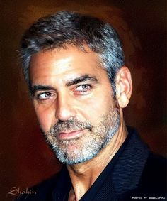 Portrait of George Clooney by shahin on Stars Portraits, the biggest online gallery for celebrity portraits. George Clooney, Hollywood Stars, Beautiful Eyes, Gorgeous Men, Stars D'hollywood, Film Icon, Celebrity Portraits, Good Looking Men, Beard Styles