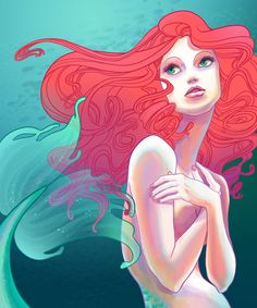 A Part of My World by *spicysteweddemon on deviantART... or is it by Kathryn Hudson?(http://www.behance.net/gallery/Ocean-Babes/5122591)... are they the same person?