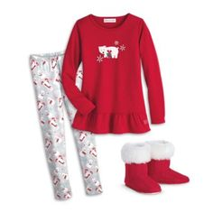 Playful Polar Bear Pajamas & Slippers for Girls | clothingtm | American Girl