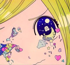 Discovered by kawaii kanye west. Find images and videos about anime and kawaii on We Heart It - the app to get lost in what you love. Kawaii Illustration, Kunst Inspo, Art Inspo, Anime Kunst, Anime Art, Ouvrages D'art, Art Kawaii, Arte Cyberpunk, Creepy Cute
