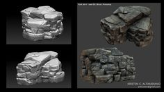 ArtStation - Rock Set, Kristen C. (Wong) Altamirano
