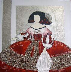Cuadro original mujer con sombrero rojo cuadros mujer - Cuadro meninas moderno ...