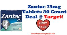 GREAT STOCK-UP PRICE!!! Zantac 75mg Tablets 30 Count Deal @ Target ~ ONLY $1.48!  Click the link below to get all of the details ► http://www.thecouponingcouple.com/zantac-75mg-tablets-30-count-deal-target-only-1-48/ #Coupons #Couponing #CouponCommunity  Visit us at http://www.thecouponingcouple.com for more great posts!