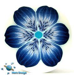Blue flower cane by Marcia - Mars design, via Flickr