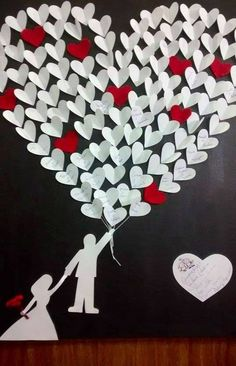 34 Stunning Valentine Crafts Design Ideas - Valentine's Day is adorned with numerous craft specialties. Handmade crafts infuse Valentine's Day with a special color. Numerous easy-to-make craft i. Valentines Day Decorations, Valentine Day Crafts, Wedding Decorations, Kids Valentines, Valentine Ideas, Diy And Crafts, Crafts For Kids, Paper Crafts, Man Crafts