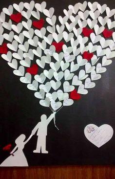 quadro de assinaturas com balões de coração! que lindo! Coração - heart - Blog Pitacos e Achados -  Acesse: https://pitacoseachados.com – https://www.facebook.com/pitacoseachados – https://plus.google.com/+PitacosAchados-dicas-e-pitacos #pitacoseachados