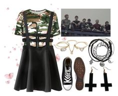 """""""BTS Inspired #2"""" by lorna-castillo ❤ liked on Polyvore featuring Converse, WithChic, Lipsy, Chicnova Fashion and bts"""