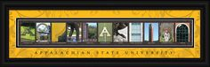 Appalachian State University Officially Licensed Framed Letter Art