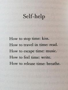 "austinkleon: """"Self-help,"" from Matt Haig's Reasons To Stay Alive """