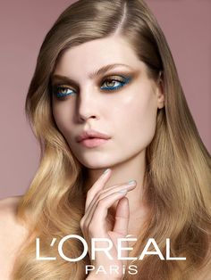 Danish model Anne Staunsager starring a Beauty Campaign for the Danish market for L'Oréal Paris. Glam Makeup, Beauty Makeup, Hair Makeup, Beauty Companies, Hair Photography, Full Face Makeup, Beauty Shots, L'oréal Paris, Nude Lip