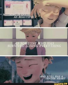 Why I appreciate and love Adrien so much. Everything that has happened to him could give anyone reason to snap or rebel. But he chooses to be kind...I think there's a lot more that we can learn from Adrien than we think:)