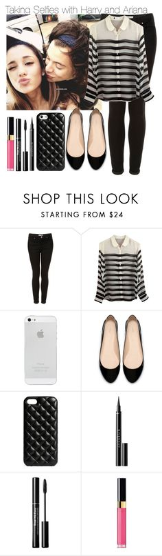 """""""Taking Selfies with Harry and Ariana (Hariana)"""" by elise-22 ❤ liked on Polyvore featuring Topshop, Equipment, Zara, The Case Factory, Givenchy, Trish McEvoy and Chanel"""
