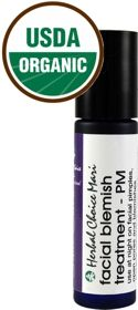 PM Blemish Spot Treatment Stick    	Use this Natural Pimple Remedy to Naturally Reduce Acne    	- USDA Certified Organic  	- No petroleum based ingredients  	- Cruelty-free, vegan and vegetarian  	- Packaged in a special violet glass bottle  	- Free from gluten, dairy, soy, corn, No GMO  	- Free from fragrances, dyes, propylene glycol  	- phthalates free, paraben free, preservative free  	- Oils are hexane...