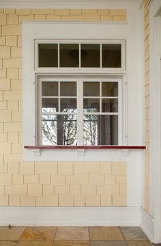 Adore this window sill... nice for a kitchen pass thru to a porch table!