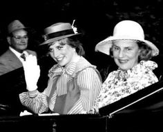 June 18, 1981: Lady Diana Spencer with the Duchess of Grafton at Royal Ascot in London.