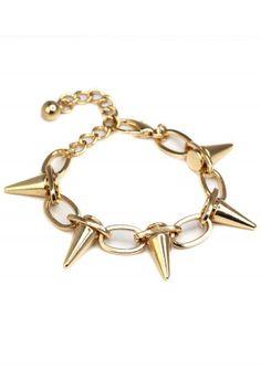 Spike Gold Plated Bracelet