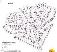 "Photo from album ""Умельцы on - Her Crochet Crochet Circles, Crochet Borders, Crochet Mandala, Crochet Diagram, Crochet Chart, Crochet Motif, Crochet Stitches, Poncho Crochet, Crochet Hook Set"