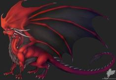 AT: Red beauty by Ryuvhiel on DeviantArt Dragon Armor, Fire Dragon, Fantasy Creatures, Mythical Creatures, Cool Dragons, Beautiful Dragon, Dragon Pictures, Black Dragon, Creature Concept