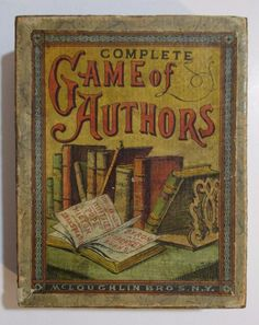 Antique Victorian MCLOUGHLIN BROS COMPLETE GAME OF AUTHORS Cards Toy w/ Box #McLoughlinBros