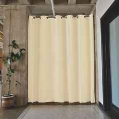 Floor-to-Ceiling Privacy or NO Privacy???? Tension Rod Room Divider Kits work great in spaces all the way up to 12.5 feet wide! Check out our website to learn more.. https://roomdividersnow.com/ #DivideAndConquer